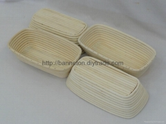 Cane banneton basket
