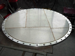 Sintered wire mesh air flow plate