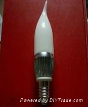 LED candle lamp E14 3X1W with nail