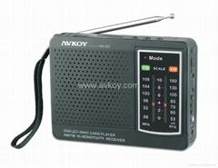 AM FM双波段收音机 手动选台 SD U盘播放