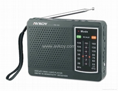 AM/FM Radio Card Reader Player.