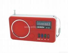 Mini Speaker with Lithium Battery & Card Reader & FM Radio