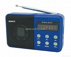 Mini Speaker with Lithium Battery & Card Reader MP3 Player& FM Radio