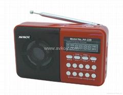 插卡音箱 MP3收音机 带锂电池