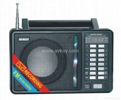 插卡音箱 MP3多功能收音机 带锂电池