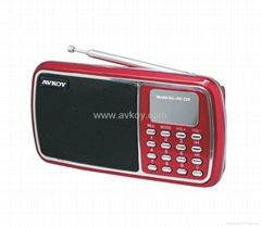 Mini Speaker  Card Reader MP3 Player& FM Radio