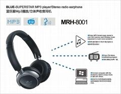 立體聲無線插卡MP3耳機  收音耳機 MRH-8801