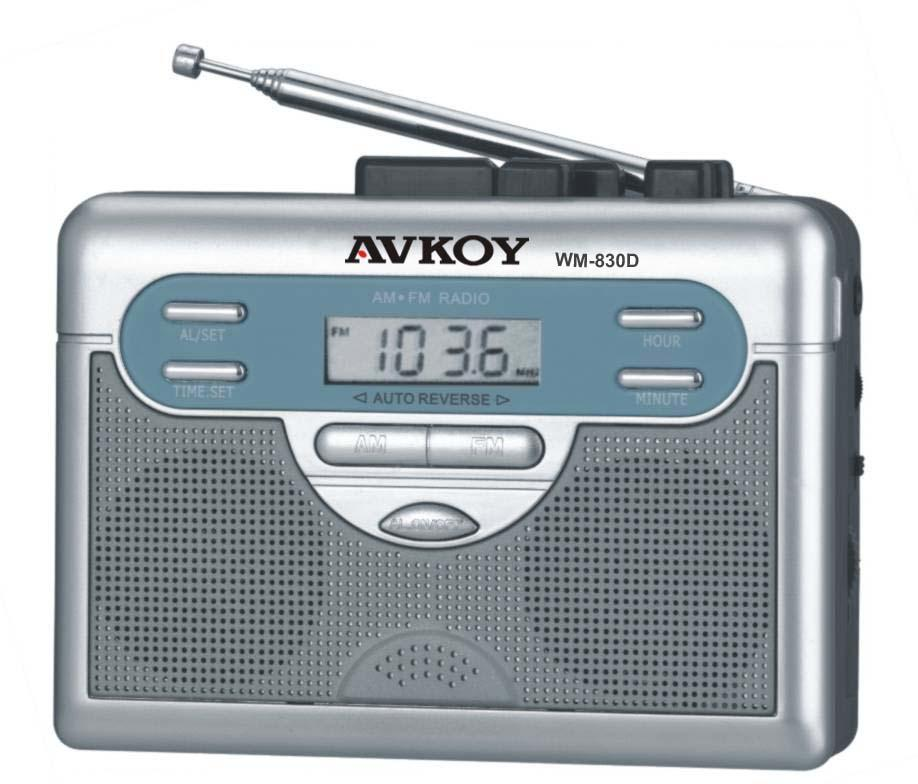 am fm digital radio cassette recorder with auto reverse. Black Bedroom Furniture Sets. Home Design Ideas