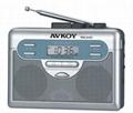 AM/FM Digital radio cassette recorder with Auto reverse(Walkman)