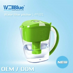 Manufacturer Alkaline Water Pitcher Hot Selling at Amazon  with pH 8.5~10