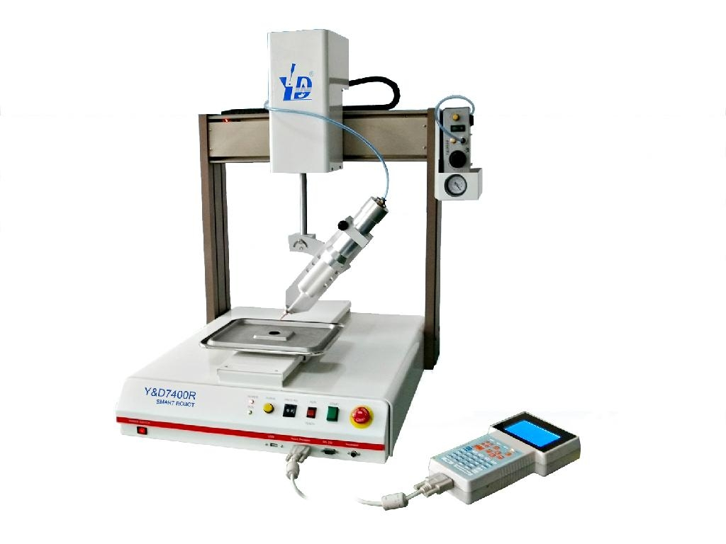 Automatic Dispensing Systems ~ Four axis automatic dispensing robot arm for electronic