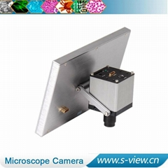 high resolution hdmi microscope industrial camera with lcd screen