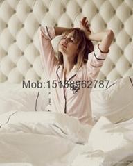 2016 New sleepover pajama set top quality BF lady sleepwear soft modal nightwear