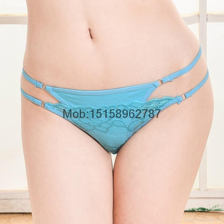 sexy lady g-string women cotton&lace t-back lady thong brand new lady panties