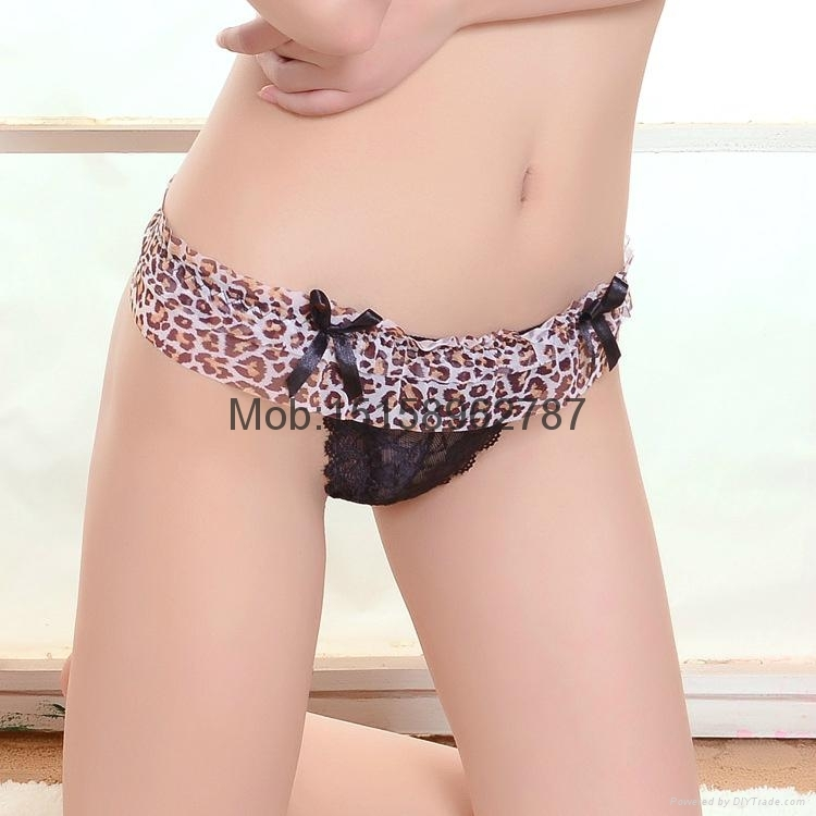 leopard sheer g-string gorgeous lace t-back Reizvolle Spitze-Tanga lace thong