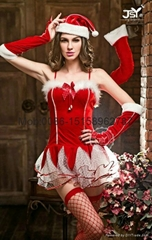 Ms Santa costume short c
