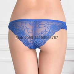 2016 New pretty laced lady bikini panties lady brief stretched cotton short pant