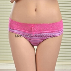 2015 laced cotton boyleg panties lady brief stretch cotton short pants knickers