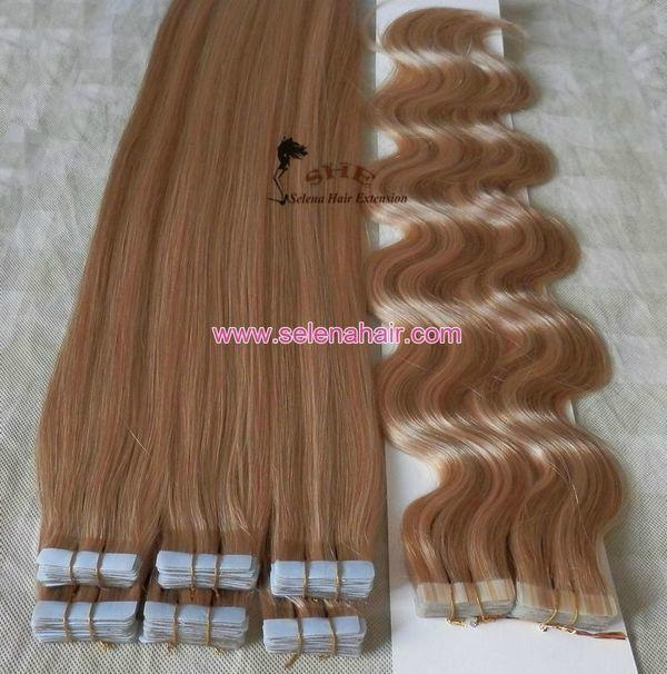 Indian Remy Double Side Tape Weft Hair Extensions Tape 02 Selena