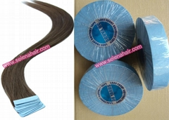 Indian remy double side tape weft hair extensions