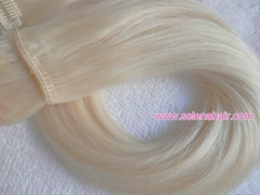 100% human hair in clip remy hair extensions