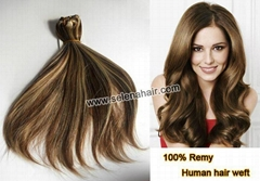 2017 100% human hair weft extensions