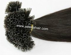 Pre-bonded U-tip nail remy hair extensions
