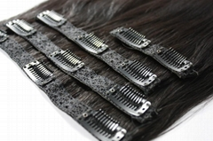 Indian virgin remy Clip in Human hair extensions