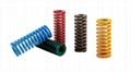 Spring for hardware and plastics moulds