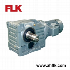 K series Helical Bevel Geared Motor / Helical Bevel reduction Gearbox