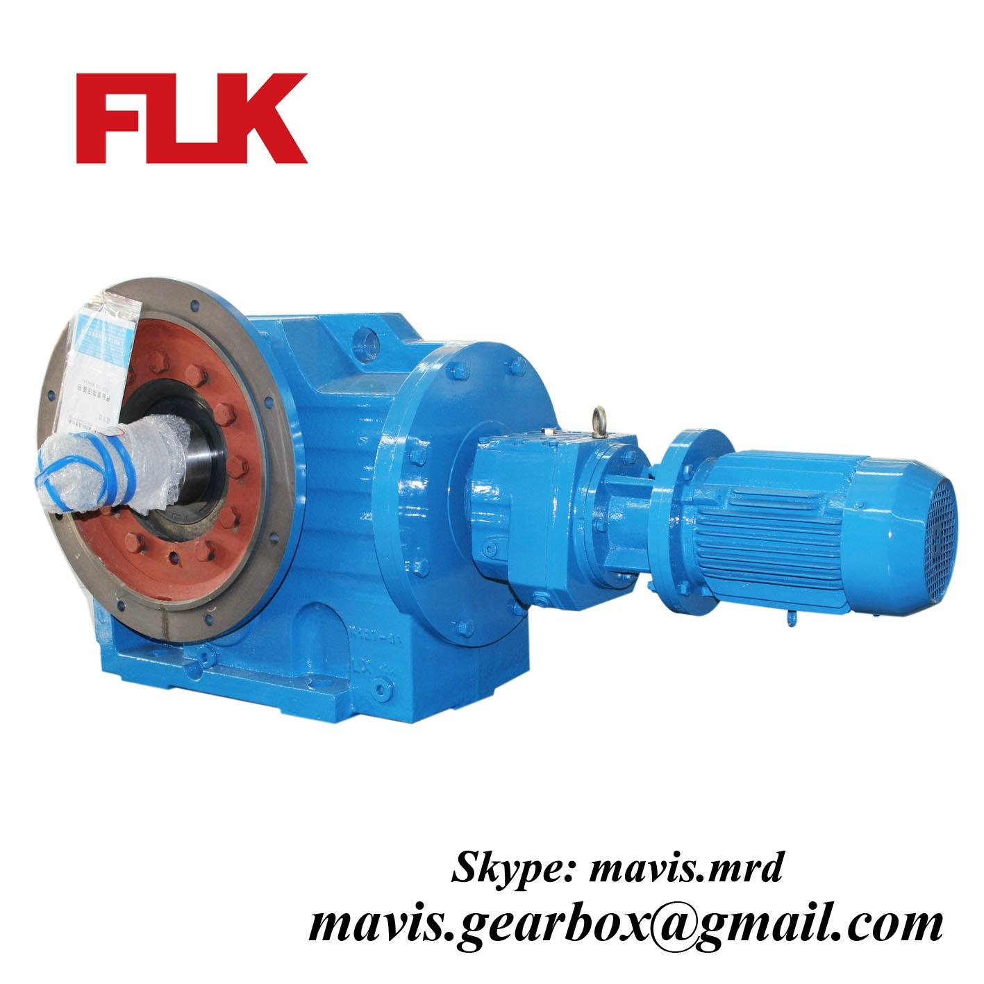 K series helical bevel gearbox electric motor reduction Electric motor with gearbox