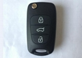 3 button flip remote key shell