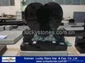 European Style Black Granite Heart