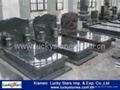 Hot Sale Poland Style Granite Tombstone