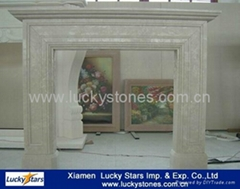 European Style Cheap Stone Fireplace