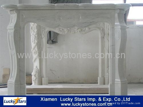 European Style Cheap Stone Fireplace 3