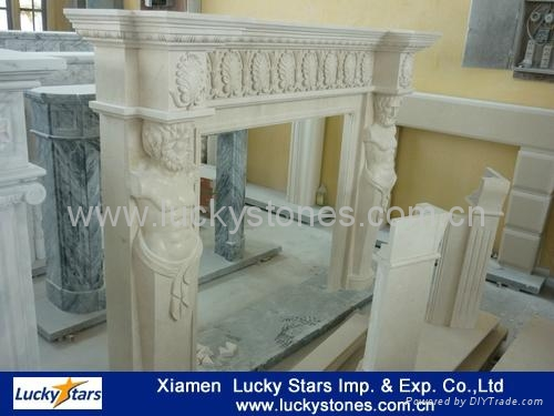 European Style Cheap Stone Fireplace 4
