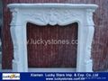European Style Cheap Marble Fireplace