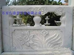 漢白玉石雕欄杆