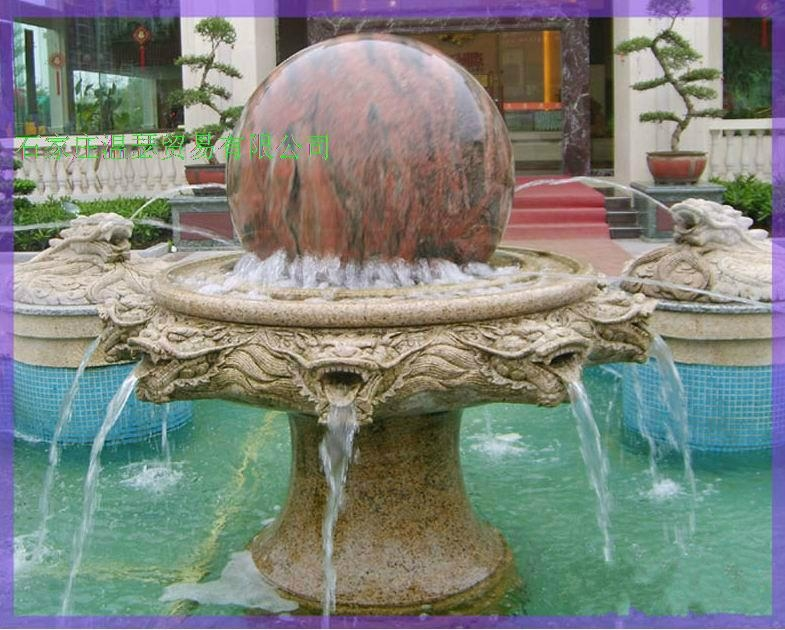喷泉  石喷泉 曲阳石雕 汉白玉雕刻  1