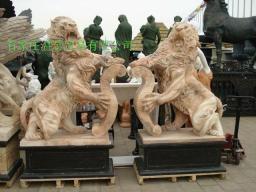 曲阳石雕大理石狮子  2