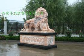 曲阳石雕大理石狮子  5