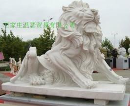 曲阳石雕门口石狮子 1