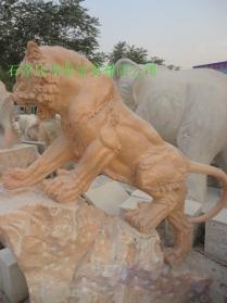 曲阳石雕门口石狮子 4