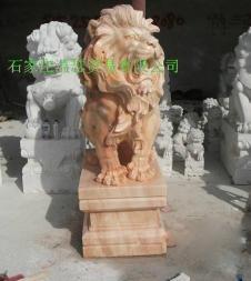 曲阳石雕门口石狮子 5