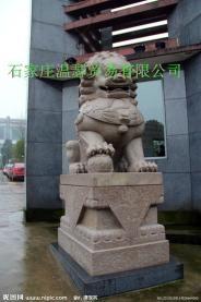 曲阳雕刻门口大理石狮子 1