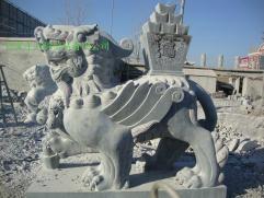 曲阳雕刻门口大理石狮子 3