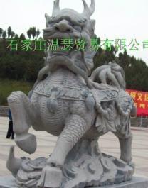曲陽雕刻門口大理石獅子 4