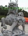 曲阳雕刻门口大理石狮子 4