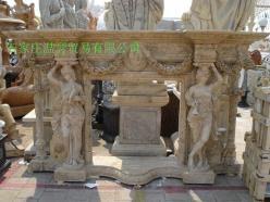 曲阳石雕欧式壁炉 3